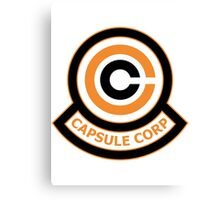 The Capsule Corporation, Orange Logo (Dragonball Z) Canvas Print