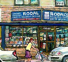 THE JEWISH STREET MONTREAL GIFT STORE RODAL by Carole  Spandau