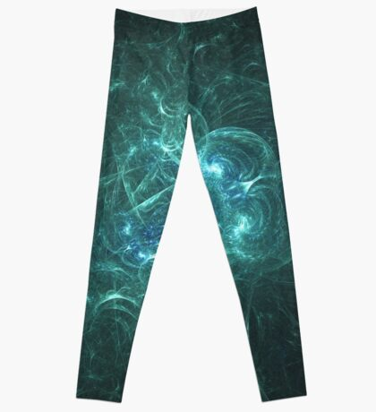 Two Ascending Spirits Dancing in All They May Create   Fractal Starscape Leggings