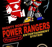 8-bit Power Rangers by Steven Reeves
