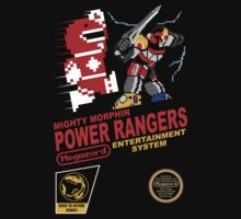 8-bit Power Rangers Baby Tee
