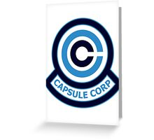 The Capsule Corporation, Blue Logo (Dragonball Z) Greeting Card