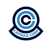 The Capsule Corporation, Blue Logo (Dragonball Z) Photographic Print