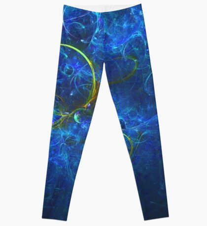 A Perfect Bubble Floating in a Bath of Light   Fractal Starscape Leggings