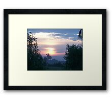willow sunrise Framed Print