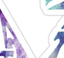 Delta Zeta Galaxy Letters Sticker