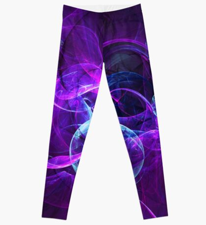Planetary Gifts From The Universal Light   Fractal Starscape Leggings