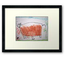 Cow (by my 4 yr old) Framed Print
