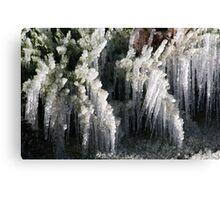 Sprinklers and Freezing Temps Canvas Print