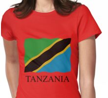 Tanzania flag Womens Fitted T-Shirt