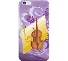 Violin Floral Swirl Purple Abstract iPhone Case/Skin