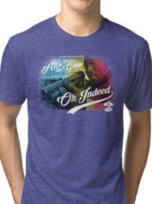 Omar Little - Oh Indeed (Rainbow) - Cloud Nine Edition Tri-blend T-Shirt