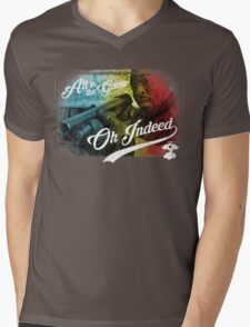 Omar Little - Oh Indeed (Rainbow) - Cloud Nine Edition Mens V-Neck T-Shirt