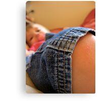 baby knee Canvas Print