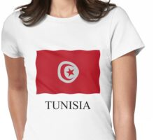 Tunisian flag Womens Fitted T-Shirt
