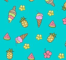 Summertime Ice-Cream by Tee Brain Creative
