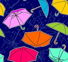 Umbrellas Pattern by yulia-rb