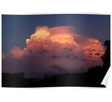 Dramatic sunset over Luxembourg (Pileus cloud) Poster