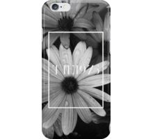 b&w flower with the 1975 llogo iPhone Case/Skin