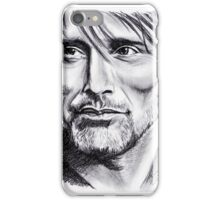 Mads Mikkelsen graphite iPhone Case/Skin
