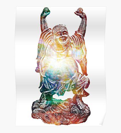 Happy Buddha   Heart of Omega Nebula Poster