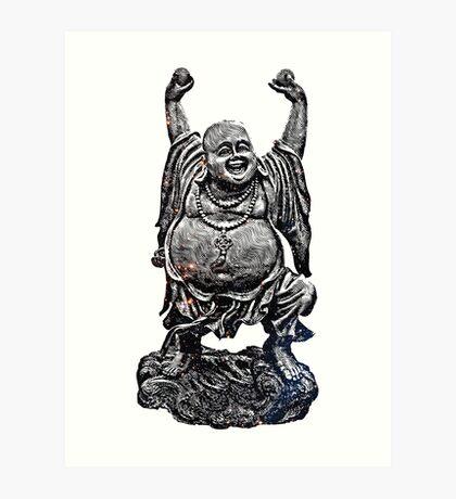 Happy Buddha | Starry Night Art Print