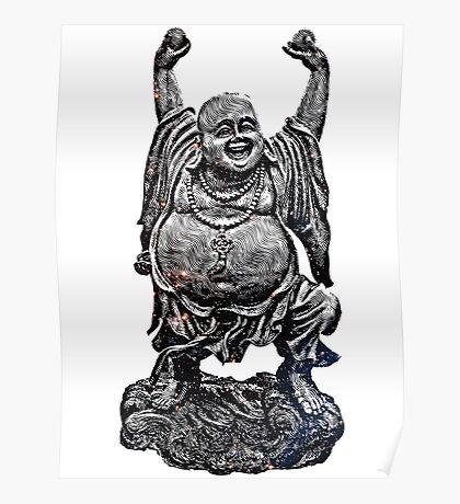 Happy Buddha   Starry Night Poster