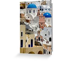 Santorini Morning Greeting Card