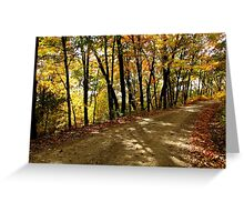Autumn Shady Lane Greeting Card