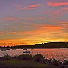 Rhode Island sunset by Nancy Richard