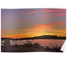 Rhode Island sunset Poster