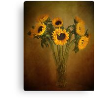 Sun Flowers in a Vase . Canvas Print