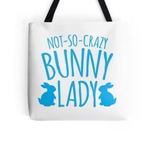 NOT-SO-CRAZY Bunny Lady Tote Bag