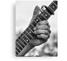Frets and Fingers Canvas Print