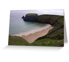 Silver Strand Beach  Nr. Teelin Co. Donegal Ireland Greeting Card