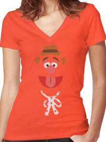 Fozzie Bear Women's Fitted V-Neck T-Shirt