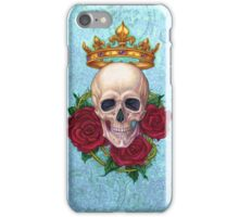 Crown, Skull and Roses iPhone Case/Skin