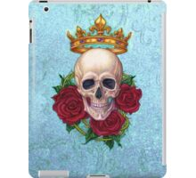 Crown, Skull and Roses iPad Case/Skin