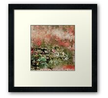 Abstract art coral green Framed Print