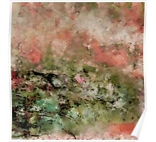 Abstract art coral green Poster
