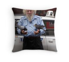Pigeon Whisperer Throw Pillow