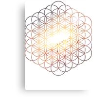 Messier Flower of Life   Sacred Geometry Canvas Print