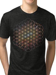 Messier Flower of Life   Sacred Geometry Tri-blend T-Shirt