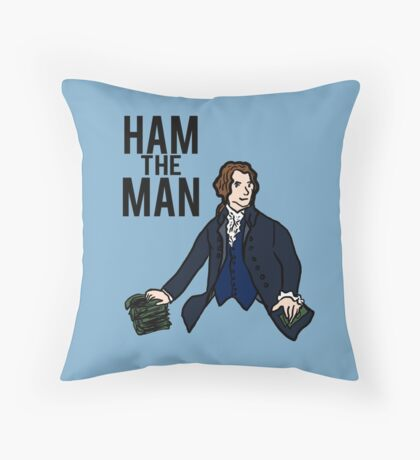 Ham The Man Throw Pillow
