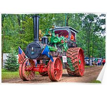 110 hp Case Steam Tractor Poster