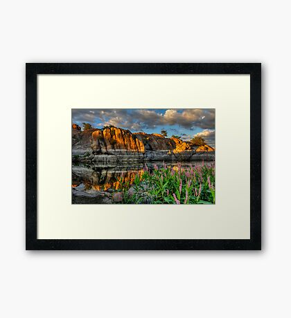 Willow Cove Reflect 1 Framed Print
