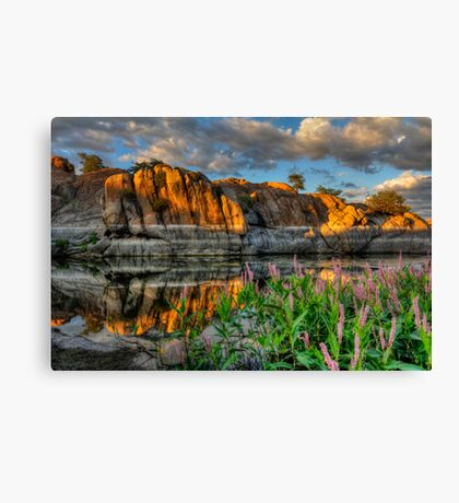 Willow Cove Reflect 1 Canvas Print