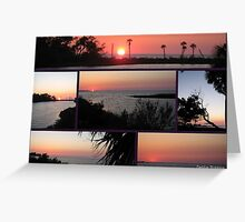 Sun sets into the Gulf of Mexico Greeting Card