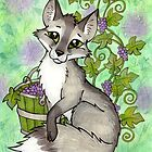 Fox and Grapes - Mixed Media by CGafford