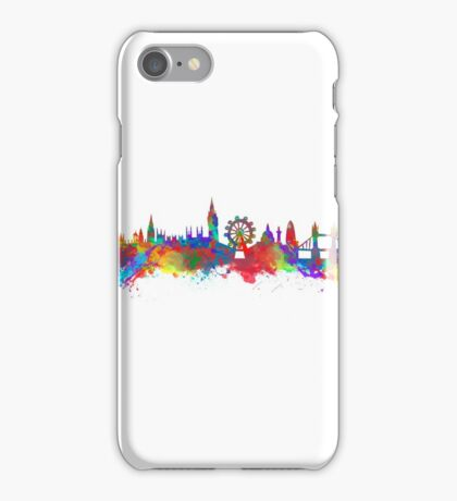 Watercolor art print of the skyline of London iPhone Case/Skin